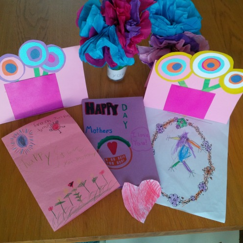 My AWESOME home-made cards and flowers!